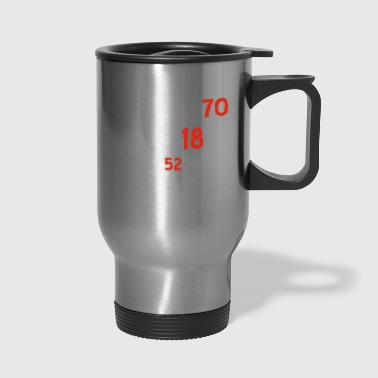 70th birthday designs - Travel Mug