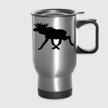 Elk Moose Reindeer Deer Hunter Scandinavia Gift - Travel Mug