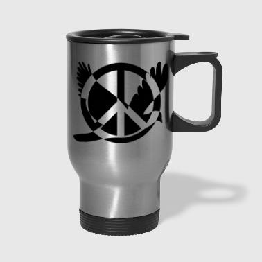 Peace Peace And Peace - Travel Mug