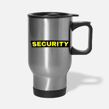 Security Service Security Guard Security Service Back of Shirt - Travel Mug
