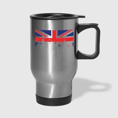 British Flag Nottingham Skyline - Travel Mug