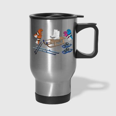 winter objects - Travel Mug