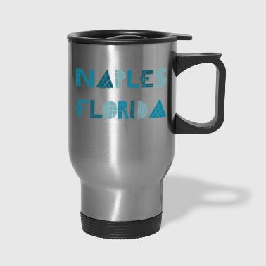 naples florida fun font - Travel Mug