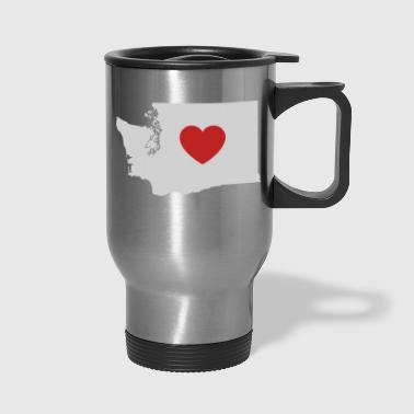Washington Love Heart - Travel Mug