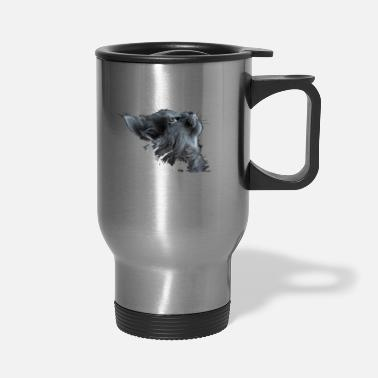 Adorable animal cat T-shirt. - Travel Mug