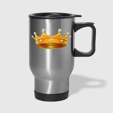Royal gold crown king monarch VIP vector image fun - Travel Mug