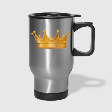 Golden crown monarch king vip vector cool image - Travel Mug