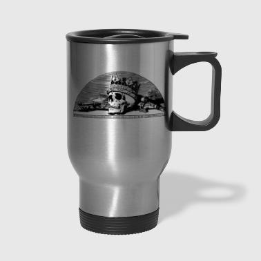 skulls black metal - Travel Mug