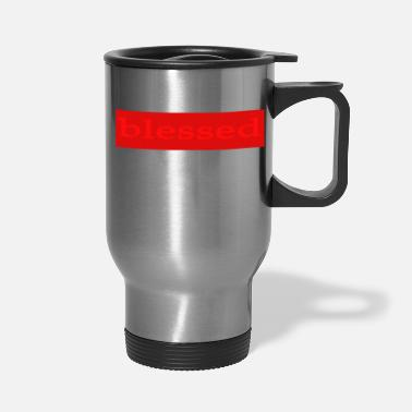 Emoto Hidden Messages Blessed(Red) - Travel Mug