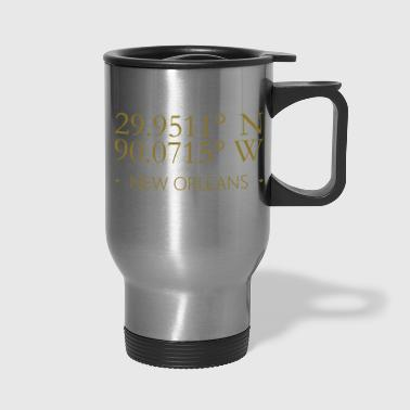 New Orleans Geographic Latitude Longitude Fleurs - Travel Mug