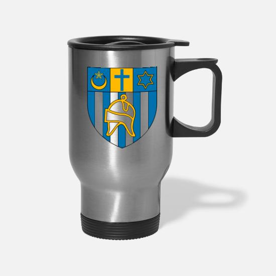 Patriot Mugs & Drinkware - Aïn_Témouchent_Coa - Travel Mug silver
