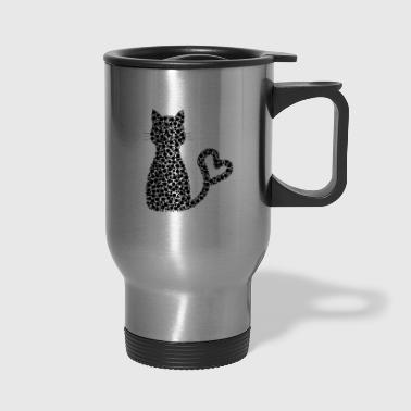 Comics Cute Funny Cute Mitze cat kitty Comic Drawing T-Sh - Travel Mug