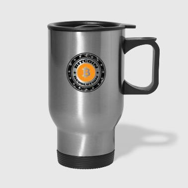 Vintage shirt. Cryptocurrency. Bitcoin revolution - Travel Mug