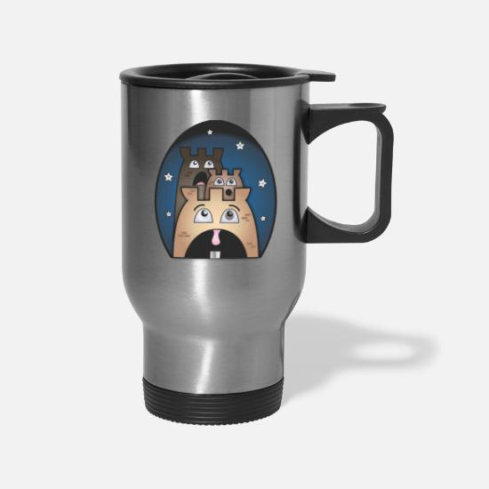 Birthday Mugs & Drinkware - Baby Face Scared - Travel Mug silver