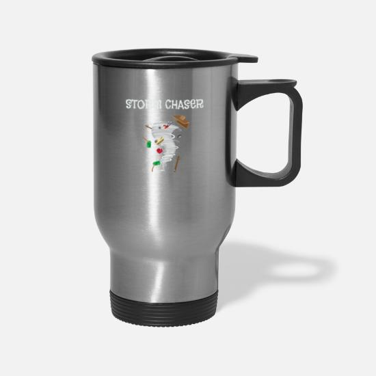 Severe Weather Mugs & Drinkware - Cute Storm Chaser for Tornado Fans - Travel Mug silver