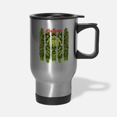 Wilderness Vintage Retro Style Porcupine Cute Gnawer Rodent - Travel Mug