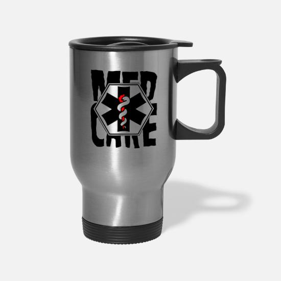 Birthday Mugs & Drinkware - Med Care Medic Care - Medical - Travel Mug silver