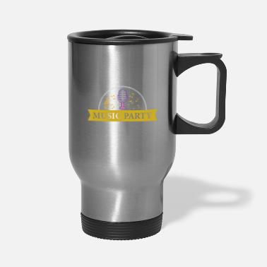 Monster music party - Travel Mug