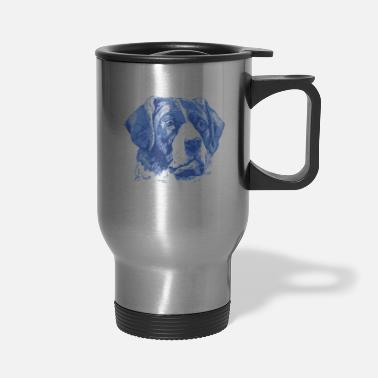 Vintage Drawing Vintage Dog - Travel Mug