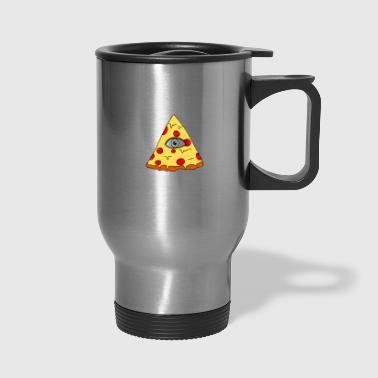 illuminati pizza All Seeing eye food Pyramide illu - Travel Mug