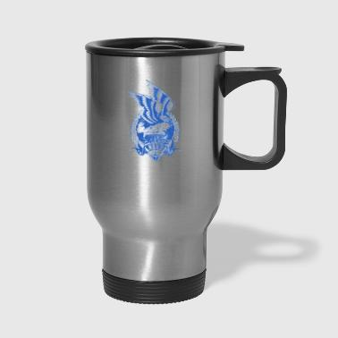 navy - Travel Mug