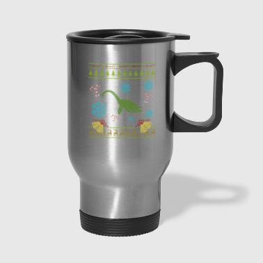 Sweater Christmas Shirt Loch Ness Monster - Travel Mug