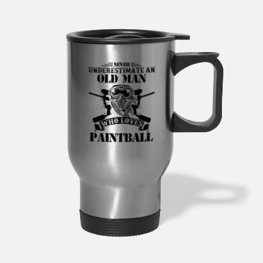 Paintball Old Man Who Loves Paintball Mug - Travel Mug