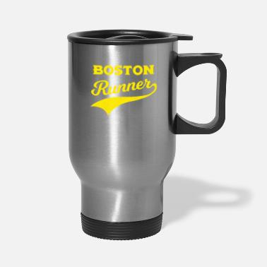 Boston Boston Runners Running Marathon - Travel Mug