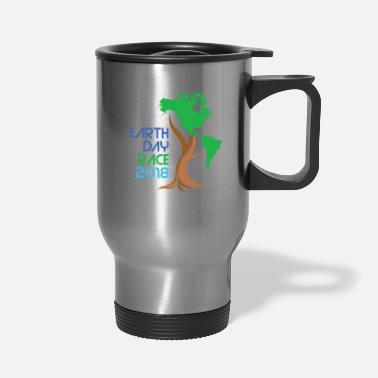 South America Earth Day Tree with North and South America - Travel Mug