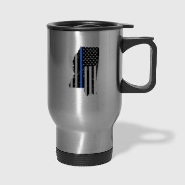 Mississippi Police & Law Enforcement Thin Blue Line - Travel Mug
