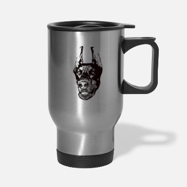 Dobie Doberman Pinscher Dobie - Travel Mug