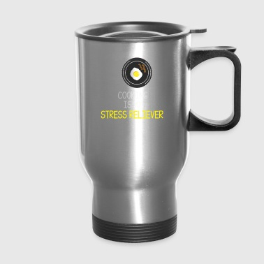 cooking egg food stress relief gift idea - Travel Mug