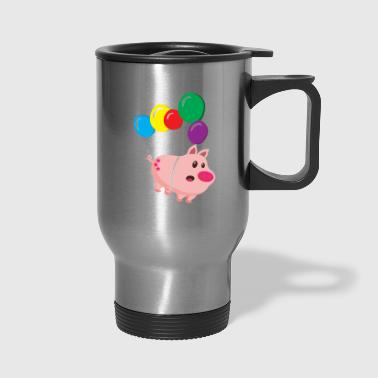Cool sow takes off - Travel Mug