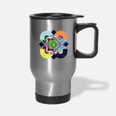 Music Is What Color Sounds Like Vintage Colorful Nature Disc - Travel Mug