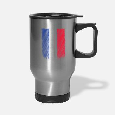French Flag French Flag Shirt France Flag T shirt Wavy Retro Design - Travel Mug