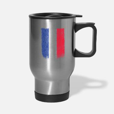 French Flag French Flag Shirt France Flag T shirt Grunge Retro Design - Travel Mug