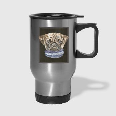 Pug Scarf Dogs In Clothes - Travel Mug