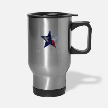 Flag Born Under The Texas Star T-Shirt Love Texas Gift - Travel Mug