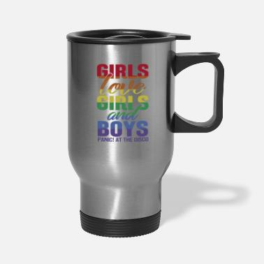 Boy Girls Love Girls and Boys Panic Disco Gift - Travel Mug