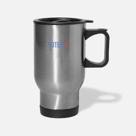 2018 Mugs & Drinkware - Informed Voter Midterm Elections - Travel Mug silver