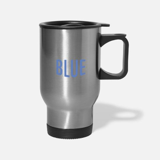 Vote Mugs & Drinkware - Vote Blue Midterm Elections - Travel Mug silver