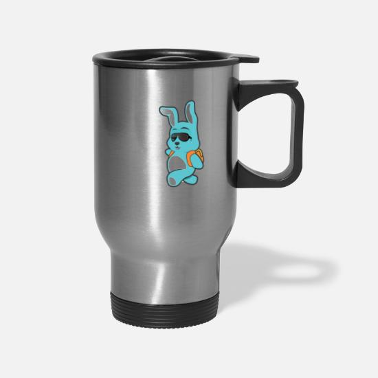 Easter Shirts For Boys And Girls Too Hip To Hop Mugs & Drinkware - Easter shirts for boys and girls too hip to hop - Travel Mug silver