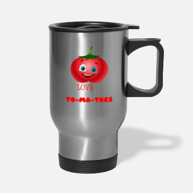 Tomatoe Pun I Love You From My Head Tomatoes Funny Tomato Pun - Travel Mug