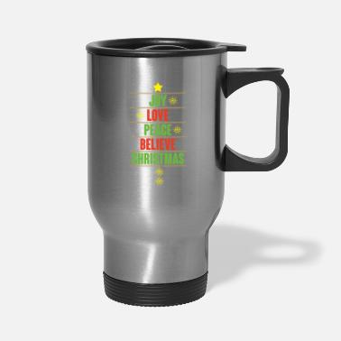 Peace Love Cruise Joy love peace believe Christmas gift - Travel Mug
