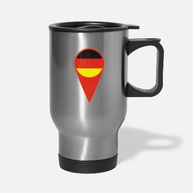 Gold German Spot Needle Gift Germany Symbol - Travel Mug