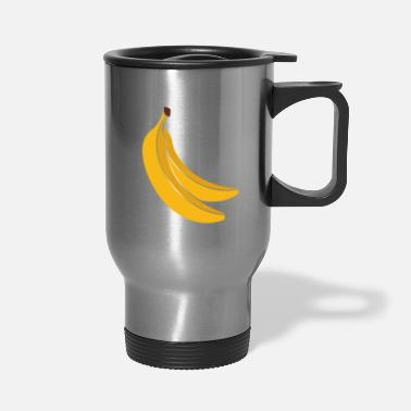 Crook bananas gift fruit crooked fruit - Travel Mug