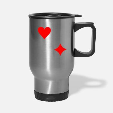 Pik Poker Cross Pik Heart Check - Travel Mug