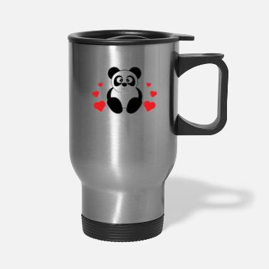 Look Charm Anniversary The cute & lovely Panda Tee for a panda lover, - Travel Mug