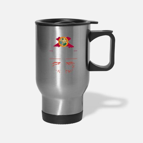 Patriot Mugs & Drinkware - Florida Grown with Swiss Roots Design - Travel Mug silver