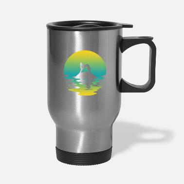 Gynastic Exercises Gymnastics Yoga Meditation Sunset Gift Sun - Travel Mug